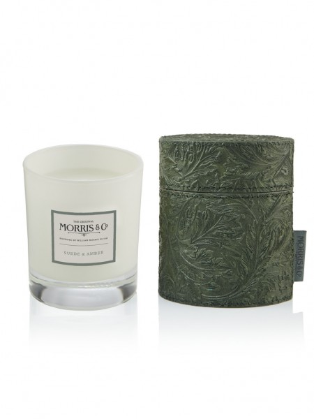 Candle/Duftkerze 180g Morris & Co. Suede Amber (green)