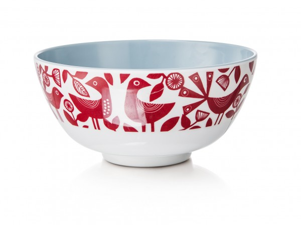 Melamine Bowl, DOVES RED