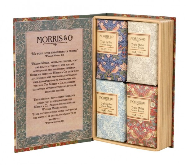 MORRIS & CO. STRAWBERRY THIEF, Guest Soaps 4 x 50g