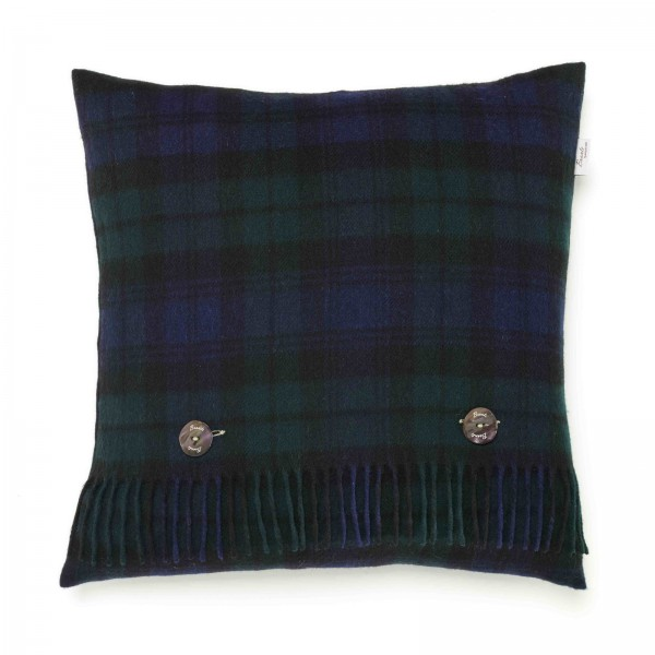 Merino-Kissen - TARTAN Black Watch, 40 x 40 cm