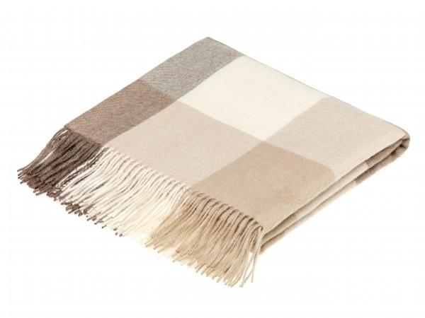 Alpaca-Decke, Check - Natural Camel 130 x 200 cm
