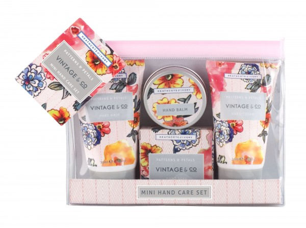 Mini Hand Care Set, Vintage Patterns & Petals
