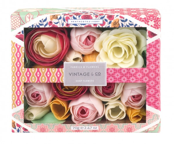 Soap Flowers, Vintage Fabric & Flowers