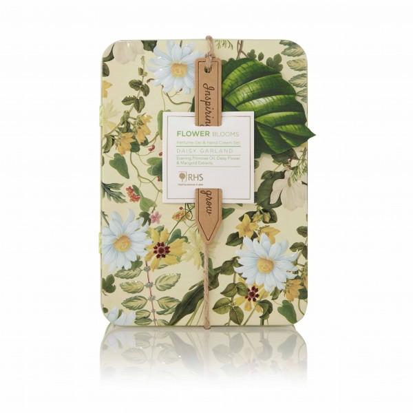 Perfume Gel Rollerbal & Hand Cream Set, RHS Daisy Garland