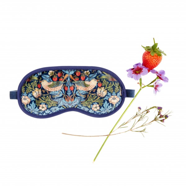 Lavender Eye-Mask, Morris & Co.Strawberry Thief VELVET