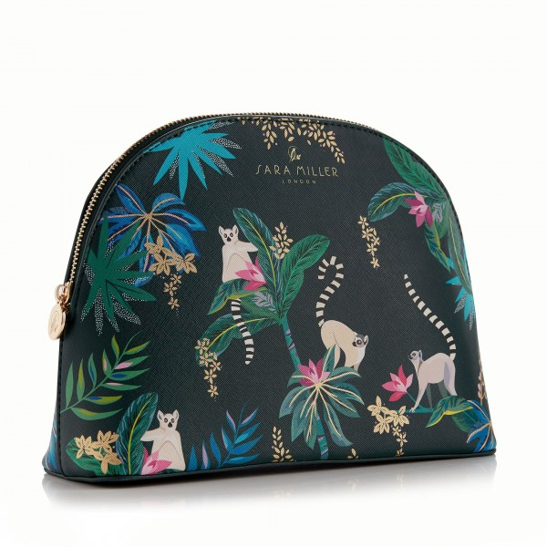 SARA MILLER TAHITI, Large Cosmetic Bag (dark green)