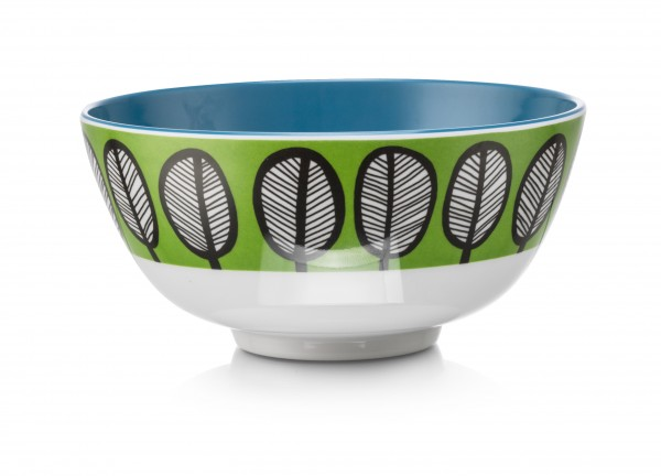 Melamine Bowl, TRIBAL LEAF GREEN