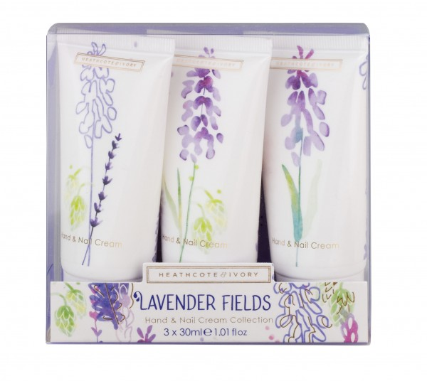 Hand & Nail Cream Collection 3x30ml, Lavender Fields