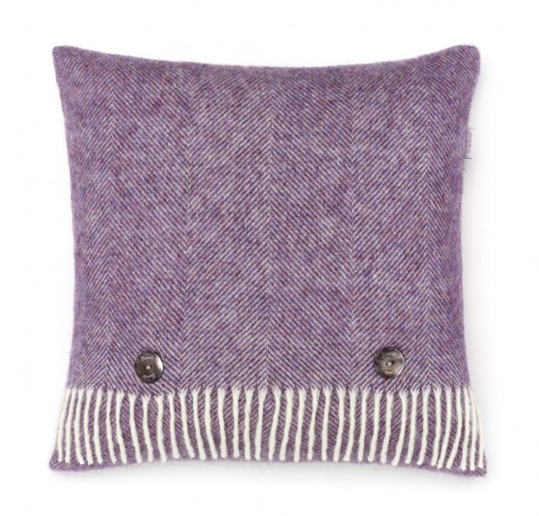 Shetland-Kissen HERRINGBONE - Lavender 40 x 40cm