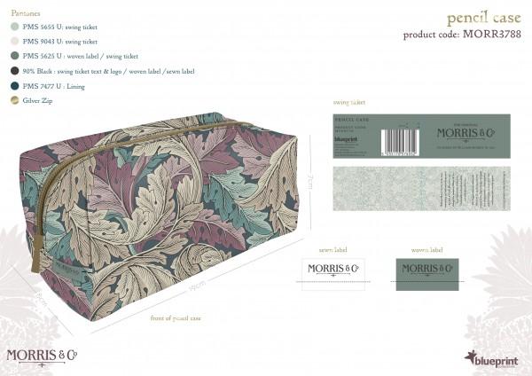 Pencil Case-groß, Morris & Co.-Acanthus-