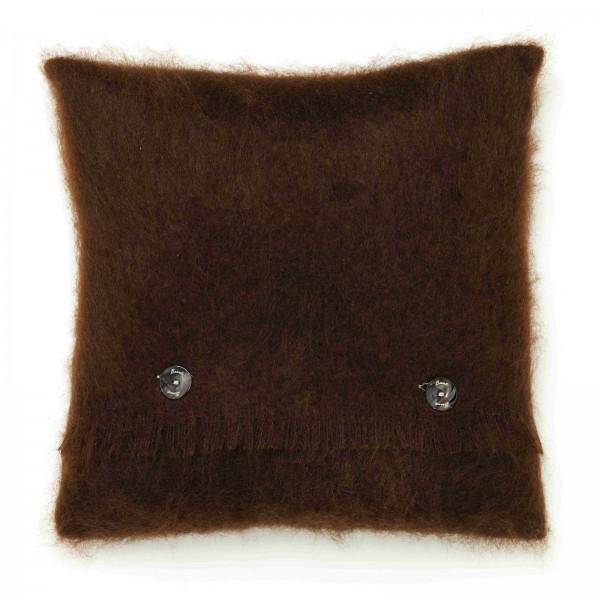 Mohair-Kissen, Chocolate 40 x 40 cm