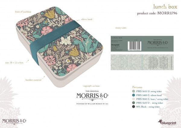 Lunch Box, Morris & Co. -Acanthus-