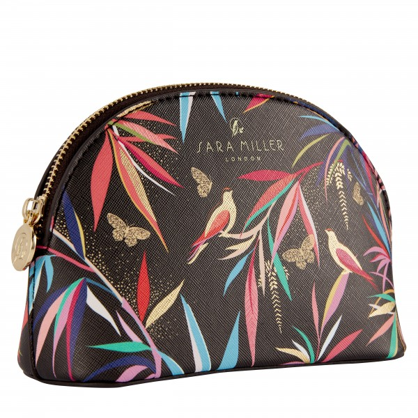 Small Cosmetic Bag, Sara Miller (black) Bamboo