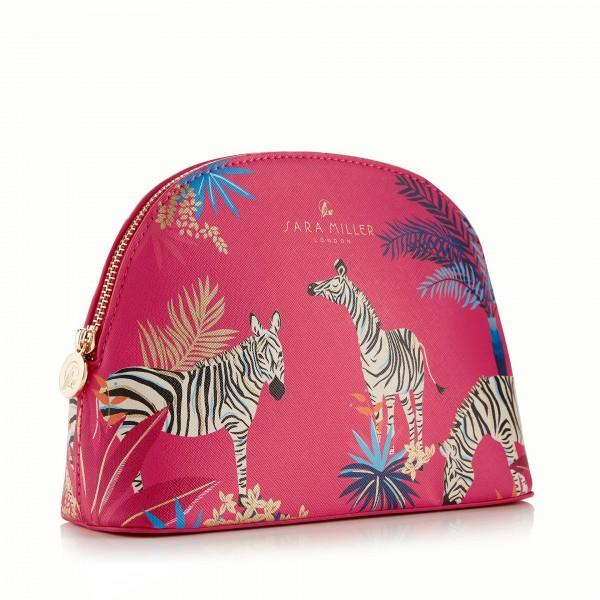 Medium Cosmetic Bag, Sara Miller TAHITI (red)