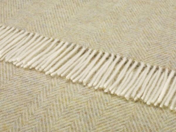 Shetland-Decke - Herringbone Sage, 140 x 185 cm
