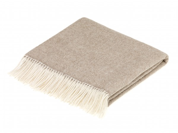 Alpaca-Decke, Herringbone - Natural Brown 130 x 200 cm