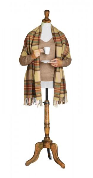 Merino-Tartan-Stoles 50 x 185cm, Antique Dress Stewart