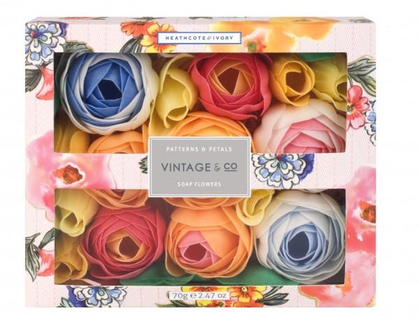 VINTAGE PATTERNS & PETALS, Soap Flowers 70g