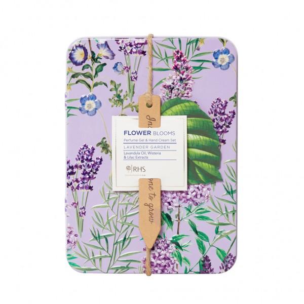 RHS LAVENDER GARDEN, Perfume Gel & Hand Cream Set in Tin