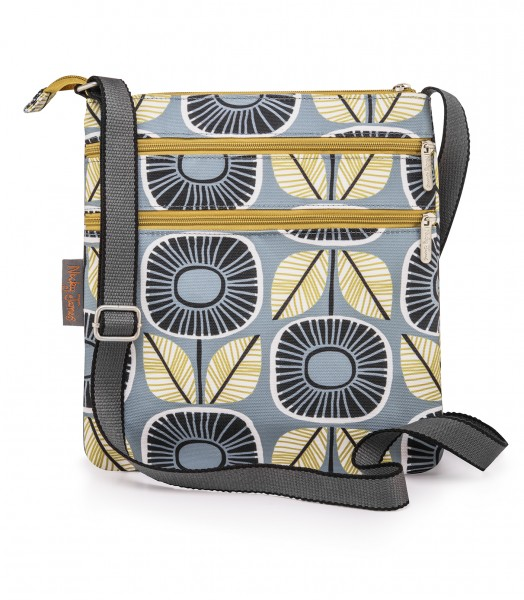 Canvas Flat Crossbody Bag, SUNFLOWERS