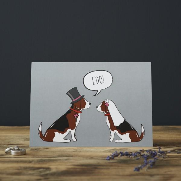 Greating Cards, 6er Set Grußkarten, WEDDING