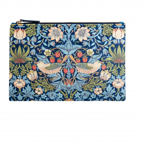 Velvet Clutch, Morris & Co.Strawberry Thief VELVET