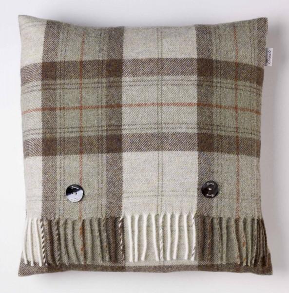 Shetland-Kissen - Skye Check Sage, 40 x 40 cm