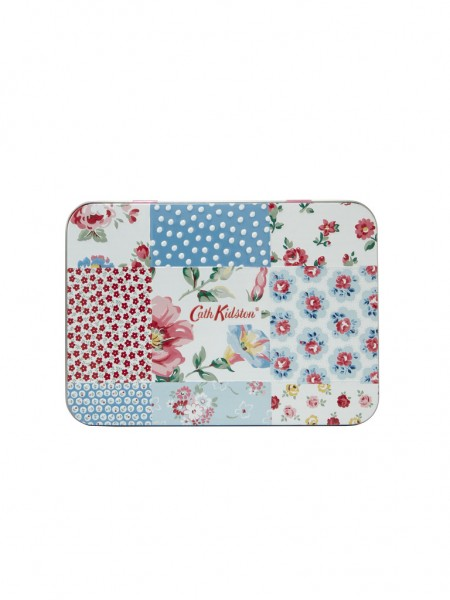 Hand and Lip Tin, Cottage Patchwork