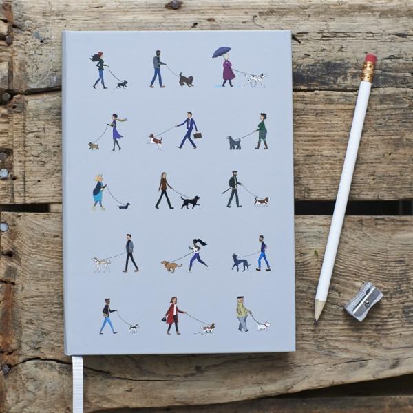 Hardback Notebook, Dog Walkers