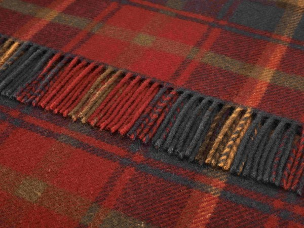 Kniedecke - Tartan Knee Rugs, Dark Maple, 140 x 90 cm