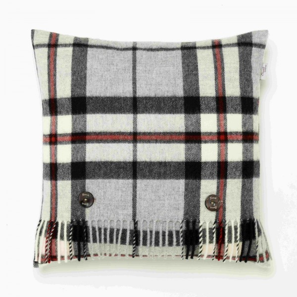Merino-Kissen - Tartan Grey Thompson, 40 x 40 cm