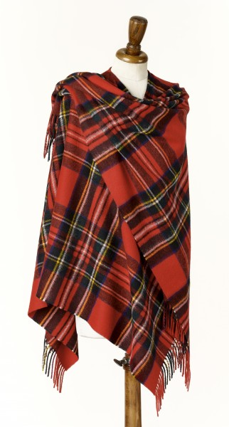 Merino-Mini Ruana 140 x 135cm, TARTAN - Royal Steward