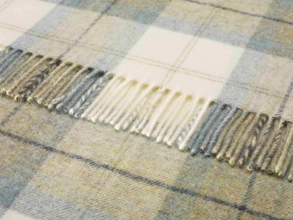 Shetland-Decke - Skye Check Aqua, 140 x 185 cm