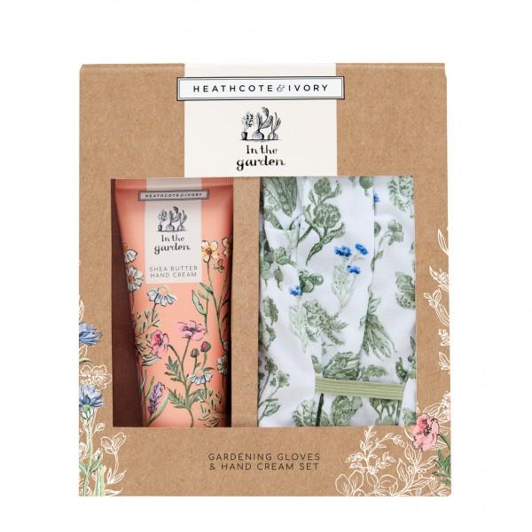 IN THE GARDEN, Gardening Gloves & Hand Cream Set