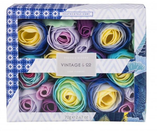 Soap Flowers, Vintage Braid & Blooms