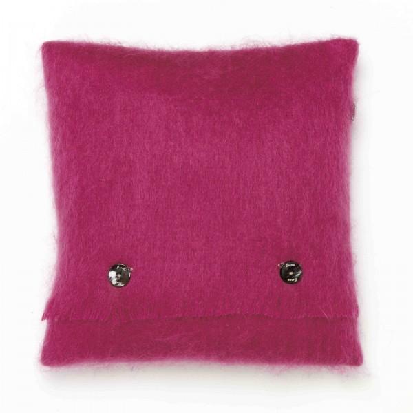 Mohair-Kissen, Cactus Pink 40 x 40 cm