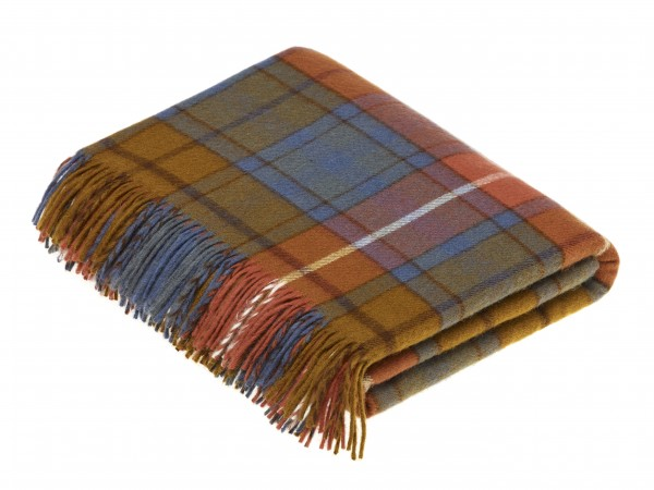 Merino-Decke - TARTAN Antique Buchanan, 140 x 185 cm