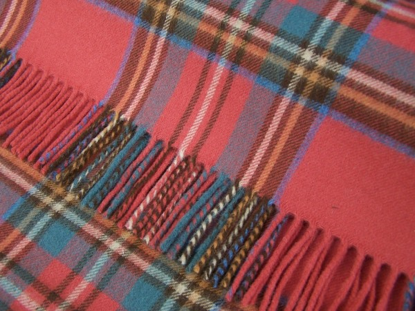 Merino-Decke - TARTAN Antique Royal Stewart, 140 x 185 cm