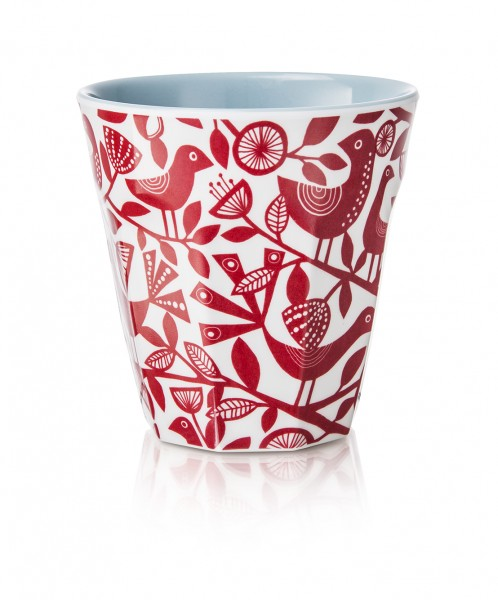Melamine Beaker/Becher, DOVES RED