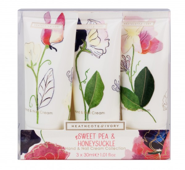 Hand & Nail Cream Collection 3x30ml, Sweet Pea & Honeysuckle
