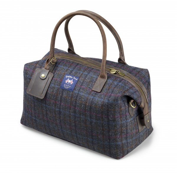 HOLD ALL, Tasche-Grey/Blue Check