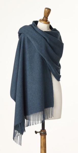 Merino-Stole 70 x 190cm, Plain - Teal