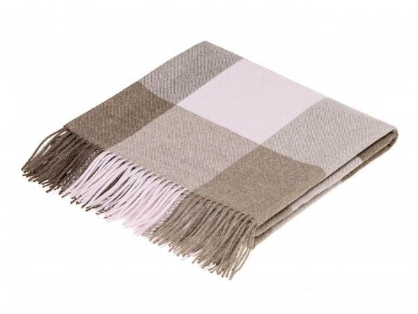 Alpaca-Decke, Check - Chocolate/Pink 130 x 200 cm