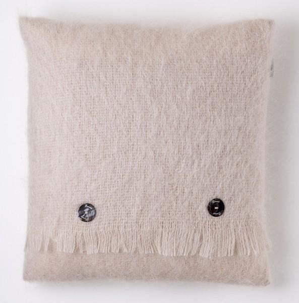 Mohair-Kissen, Vanilla 40 x 40 cm