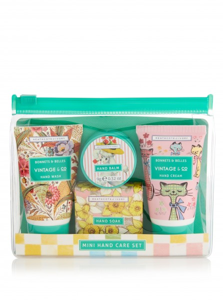 Mini Hand Care Set, Vintage Bonnets & Belles