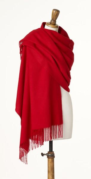 Merino-Stole 70 x 190cm, Plain - Scarlet