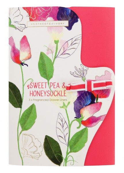 Fragranced Drawer Liners, Sweet Pea & Honeysuckle
