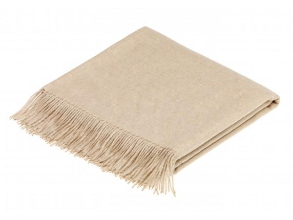 Alpaca-Decke, Natural Beige 130 x 200 cm