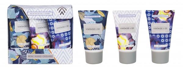 Mini Hand Creams 3 x 30ml, Vintage Braid & BLooms