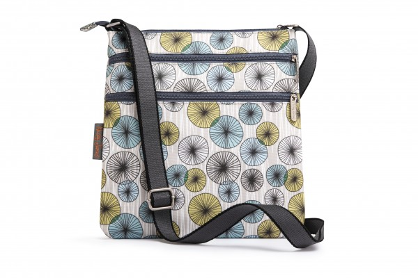 Canvas Flat Crossbody Bag, CIRCLES